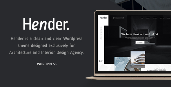 Download Hender - Architecture and Interior Design Agency WordPress Theme nulled download