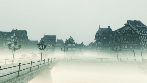 Download Medieval European City - Foggy Day nulled download