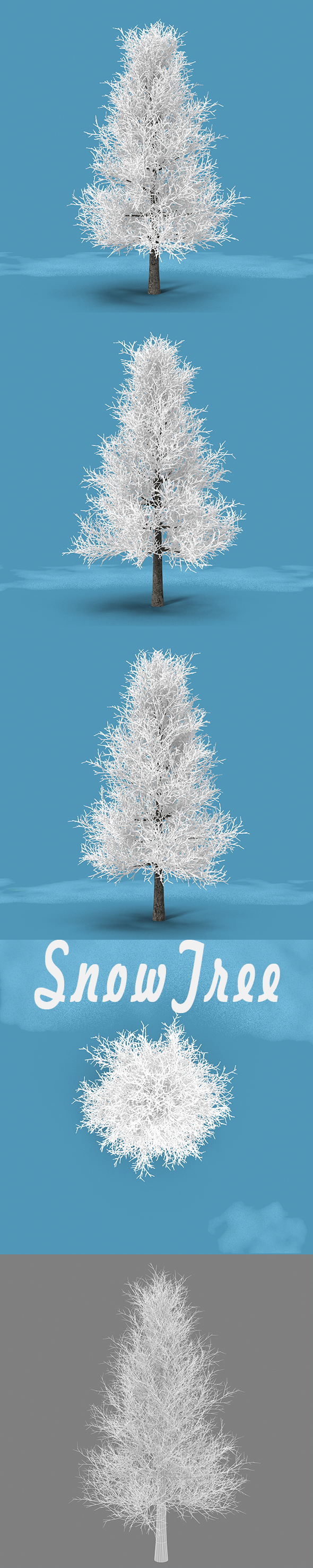 3DOcean Snow Tree 18975812