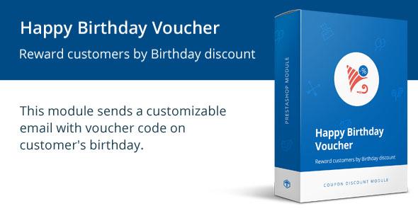 Happy Birthday Voucher / Coupon Discount Module