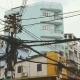 The Web of Power Lines on the Streets of Ho Chi Minh City