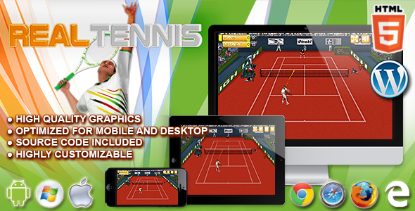 Download Real Tennis - HTML5 Sport Game