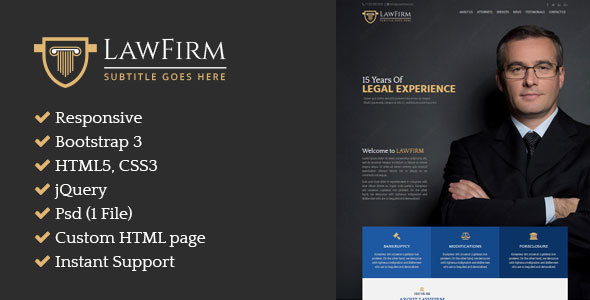 Download LawFirm – Responsive HTML Single Page Website.