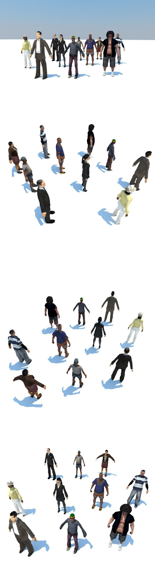 10 LOW POLY PEOPLE P1 - 3DOcean Item for Sale