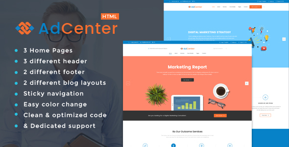Adcenter - Digital Marketing HTML Template