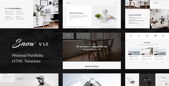Download Snow | Minimal & Clean HTML Portfolio Template