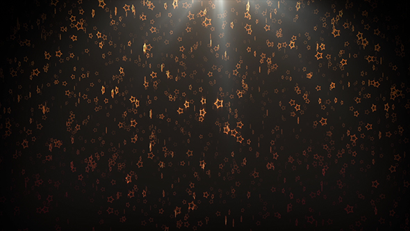 VideoHive Glowing Stars Rain 18979917