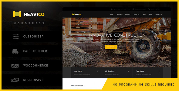 Heavico - Construction & Industrial WordPress Theme