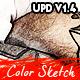 Modern Color Sketch Photoshop Action v1.4