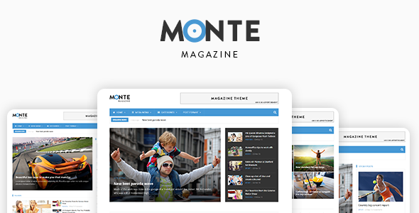 01 preview.  large preview - Monte - Responsive Magazine News Drupal 8 Theme
