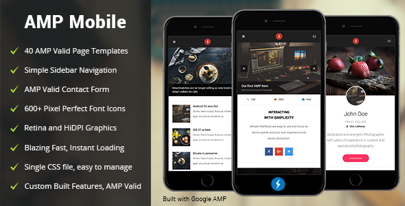 AMP Mobile | Google AMP Mobile Template