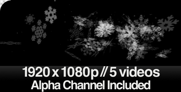 VideoHive 5 Snow Swishing Across the Screen Videos ALPHA 220074