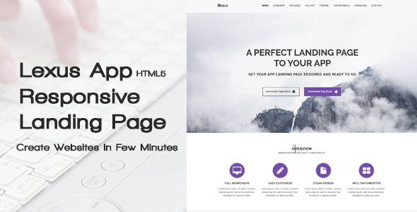 Download Lexus - HTML5 Responsive App Landing Page nulled download