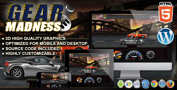 Download Gear Madness - HTML5 Racing Game nulled download