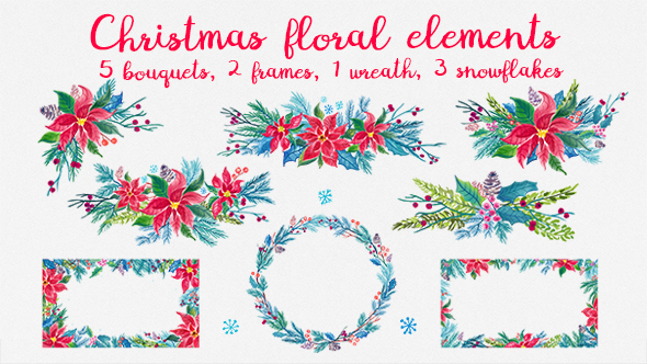 Download Christmas Floral Elements nulled download