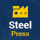 SteelPress - Industrial & Factory Business HTML Template