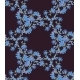 Seamless Pattern with Chicory. Round Kaleidoscope