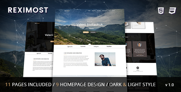 Reximost - Responsive CV / Resume /  Personal / Portfolio HTML Template