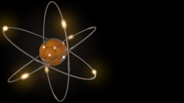Download Orange Stylized Atom and Electron Orbits nulled download