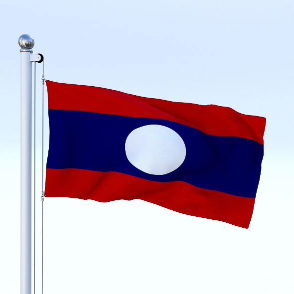 Animated Laos Flag - 3DOcean Item for Sale