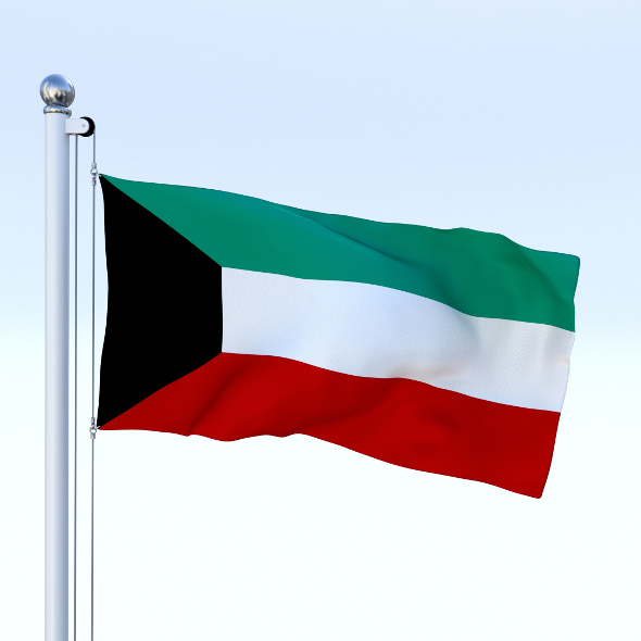 Animated Kuwait Flag - 3DOcean Item for Sale
