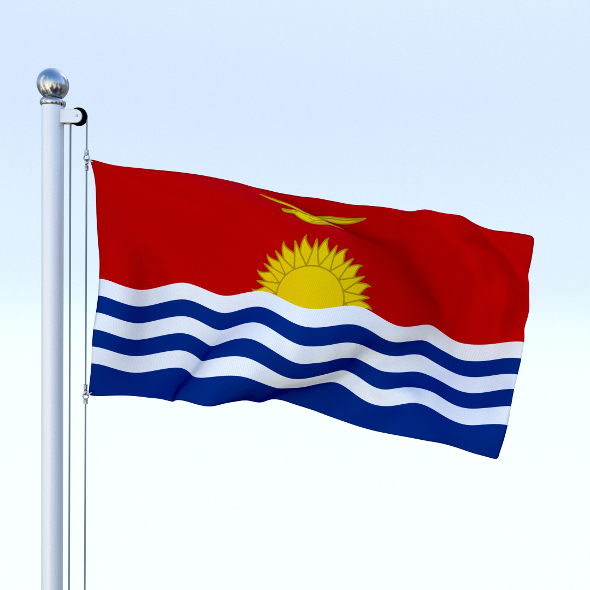 Animated Kiribati Flag - 3DOcean Item for Sale