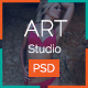 Art Studio PSD Template