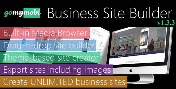 gomymobiBSB: Drag-n-Drop Business Mobile Site Builder - PRO