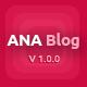 Ana Blog – Mega Blog PSD Template