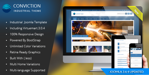 preview.  large preview - Conviction - Responsive Multi-Purpose Joomla Theme