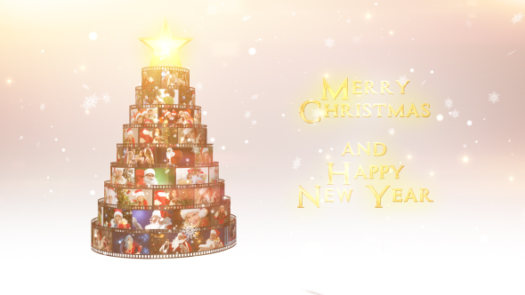 Merry Christmas Film Reel Wishes