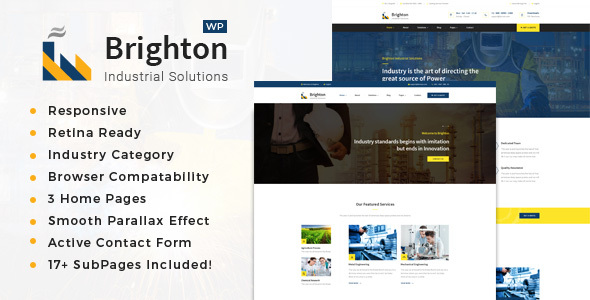 Brighton - Factory, Company And Industry WP Theme