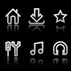 Simple icons on black background - Set 1 - GraphicRiver Item for Sale