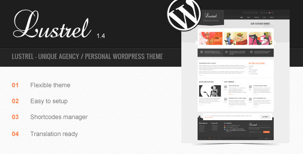 ThemeForest Lustrel Unique Agency Personal Wordpress Theme 1024547