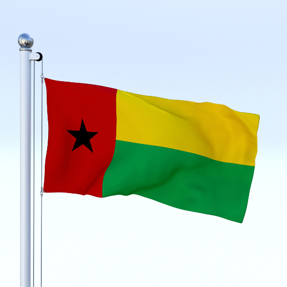 Animated Guinea-Bissau Flag - 3DOcean Item for Sale