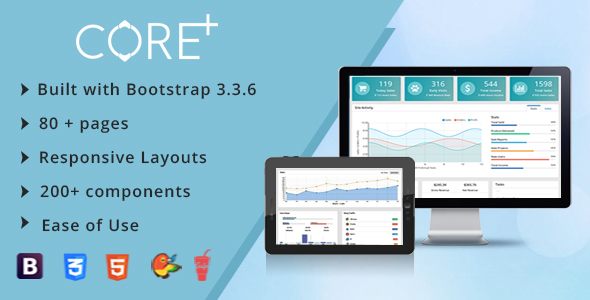 Core Plus - Ultimate Admin Template + Laravel blade files