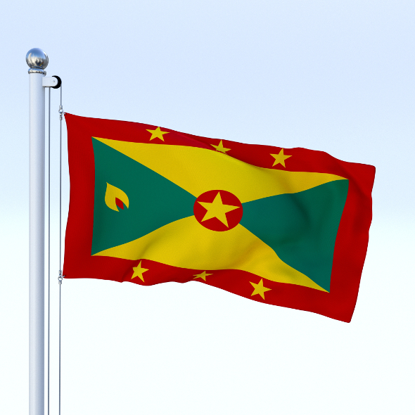 Animated Grenada Flag - 3DOcean Item for Sale
