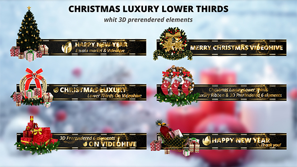 Christmas Luxury Lower Thirds