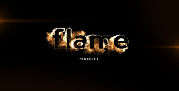 VideoHive Flame Title II lowercase letters 1869165