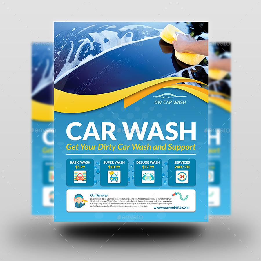 car wash services advertising bundle template by owpictures graphicriver. Black Bedroom Furniture Sets. Home Design Ideas