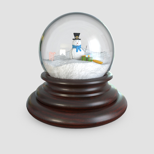 Glass Snow Globes - 3DOcean Item for Sale