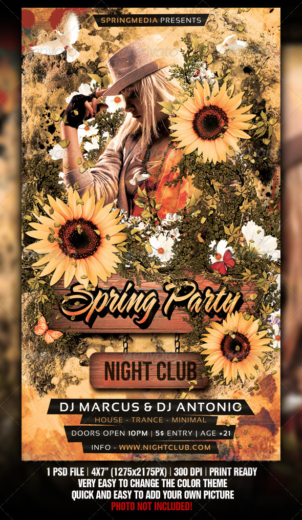 GraphicRiver Spring Summer Party Flyer 1869200