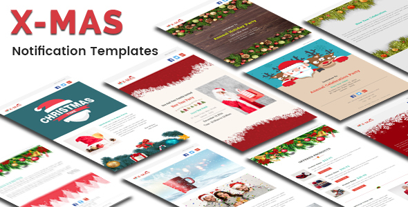 Download X-MAS - Responsive Newsletter and Notification Template with Stampready Builder Access nulled download