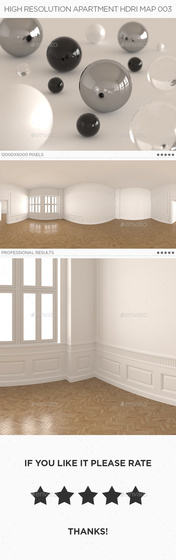 3DOcean High Resolution Apartment HDRi Map 003 18999513