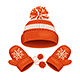 Hat and Mitten Set Winter Accessories. Vector