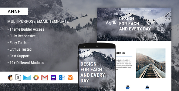 Image of Anne – Responsive Email + StampReady Builder