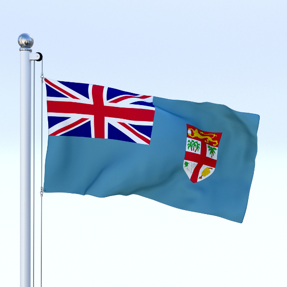 Animated Fiji Flag - 3DOcean Item for Sale