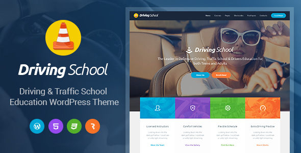 Driving College – Car or truck, Driving &amp Automobile WordPress Theme (Company)