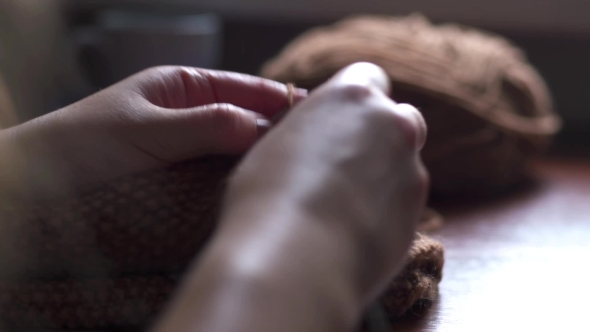 VideoHive of Young Woman Knitting 19002255