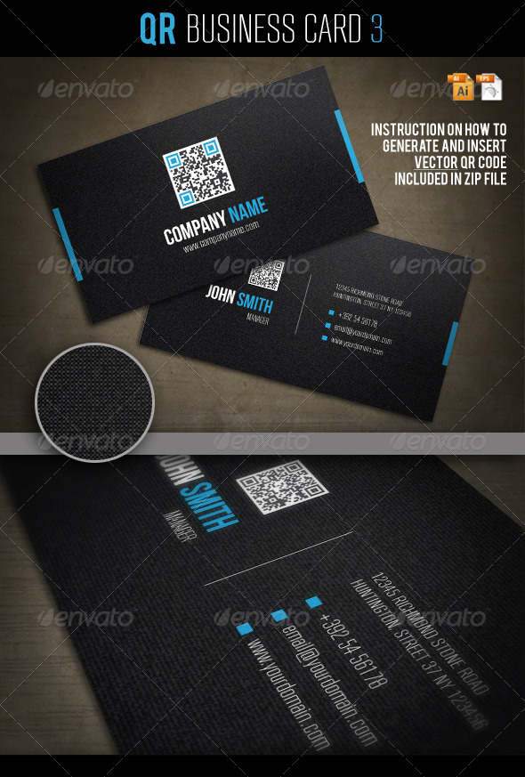 QR Business Card 3 - Corporate Business Cards